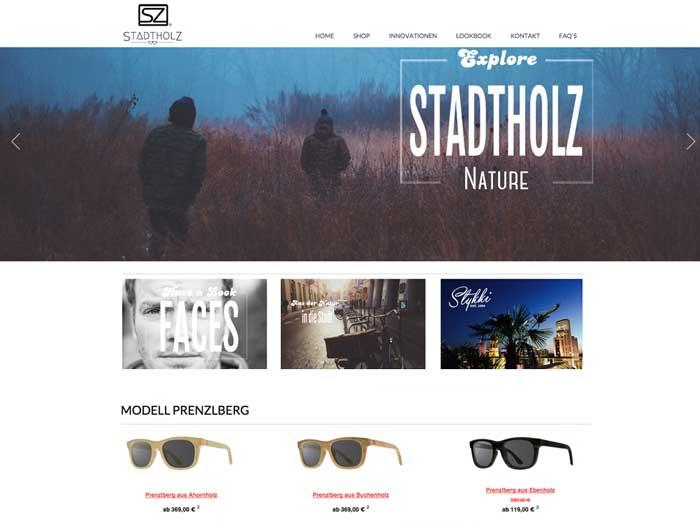 Stadtholz Jimdo Shop Website Tutor