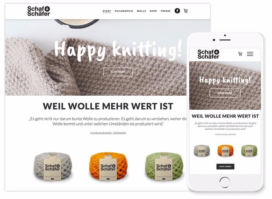 Jimdo Onlineshop Shaaf und Schäfer