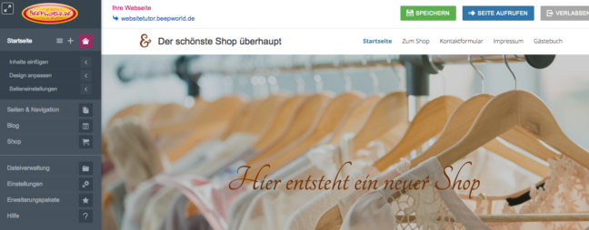 onlineshop beeworld
