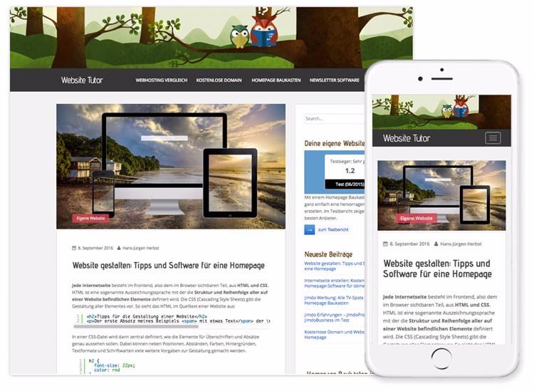 Website gestalten: Tipps und Software für eine Homepage - Website Tutor