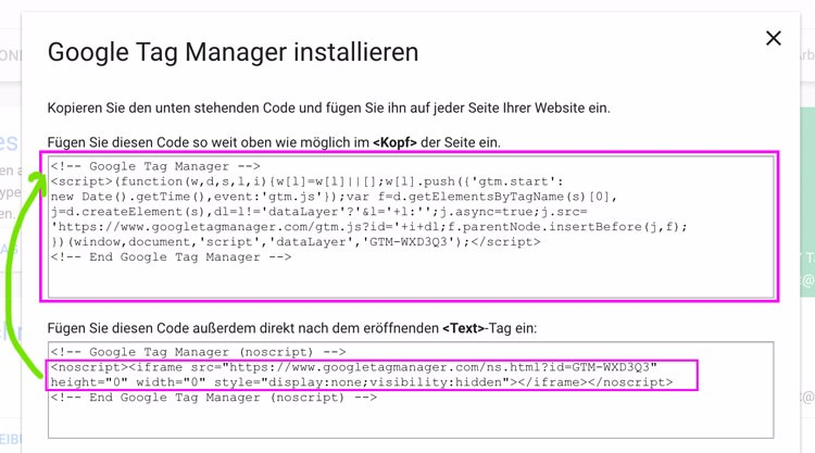 Google Tag Manager einsetzen