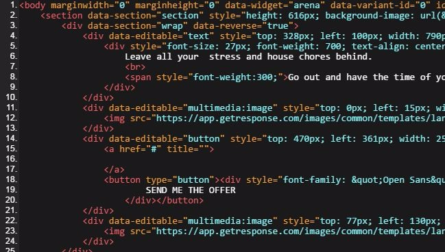 code im HTML Editor