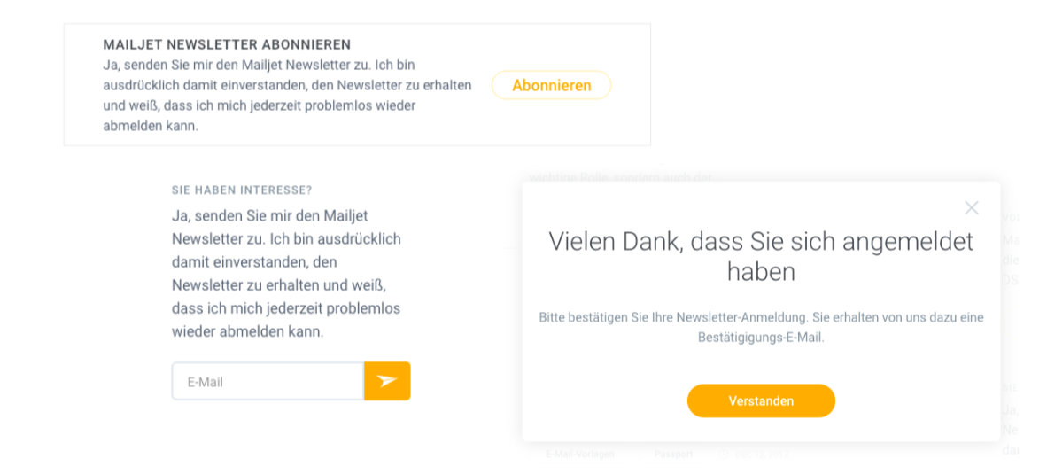 Newsletter Widget Mailjet