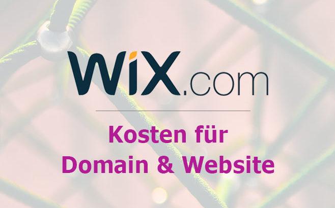 wix domain kosten
