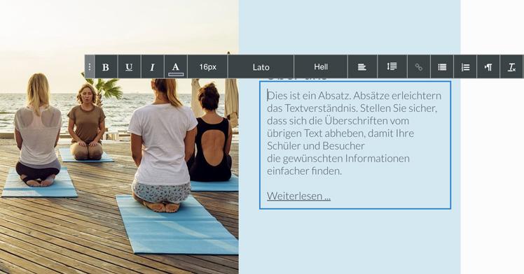 webgo homepage text bearbeiten