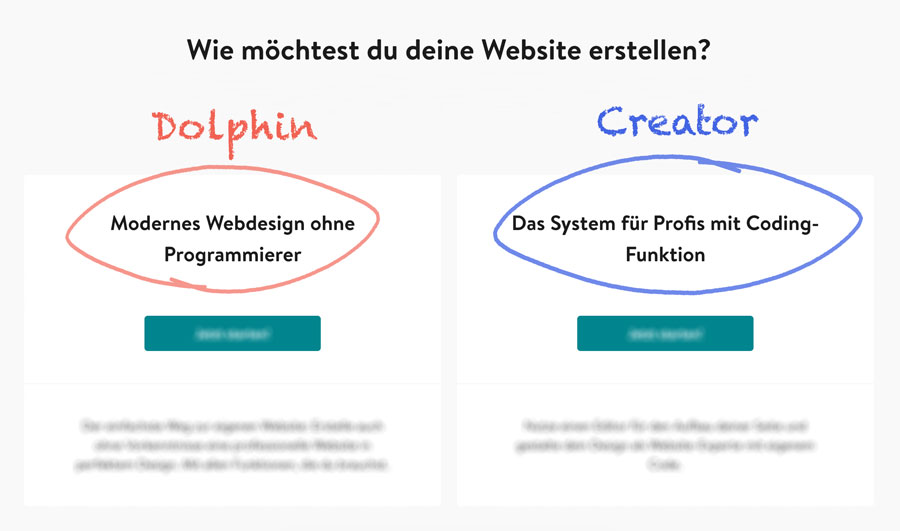website dolphin vs creator