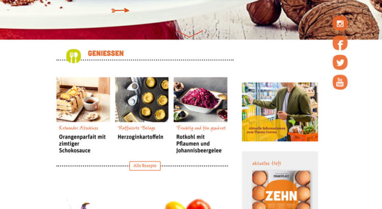 Wordpress Magazin website beispiel