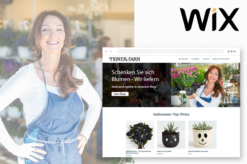 Wix homepage Baukasten